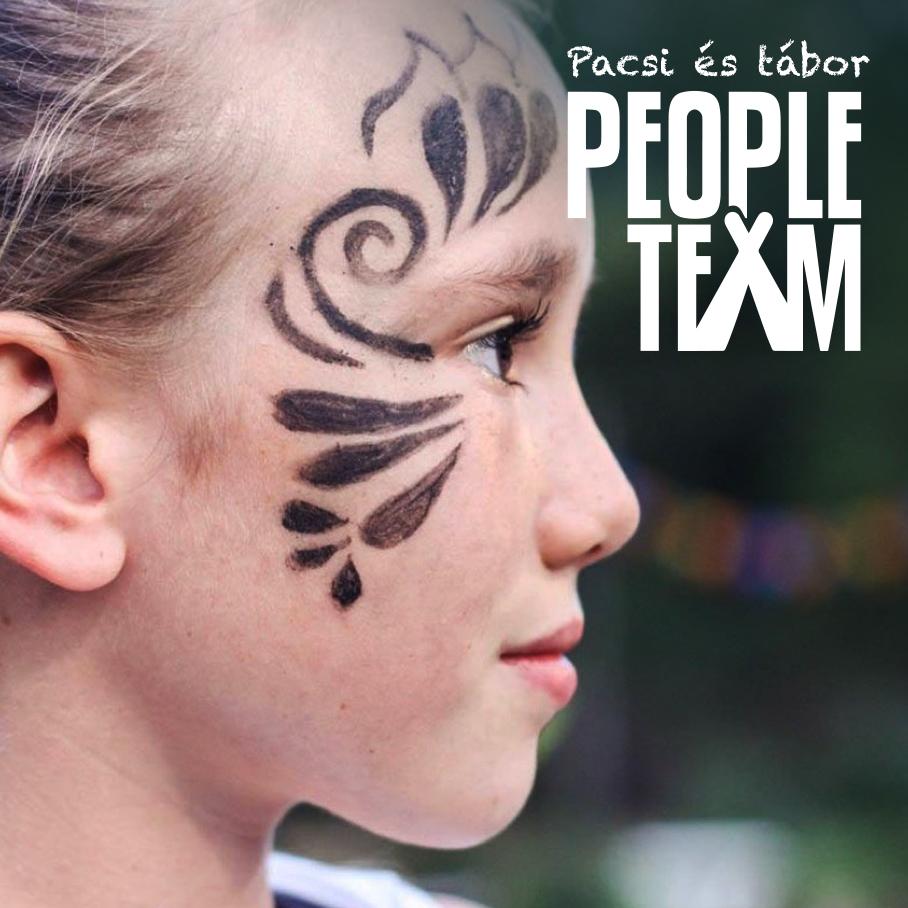 Táborozó arcfestéssel a PEOPLE TEAM-táborban